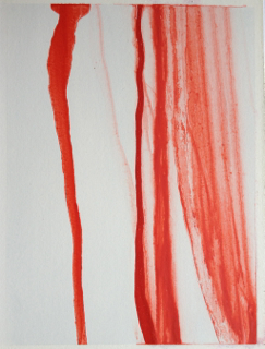 Sarah Honner - Juice Vain 1, oil washed with turpentine oil on paper