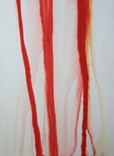 Sarah Honner - Juice Vain 3, oil washed with turpentine oil on paper